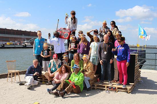 Winners from the first Heijplaat Jeu de Boules Tournament. photo by: Job Taks