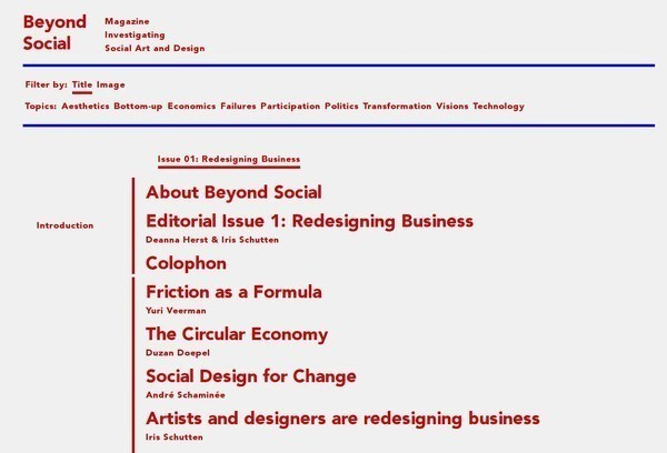 Beyond Social website front page