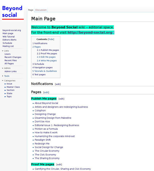 Beyond Social wiki front page